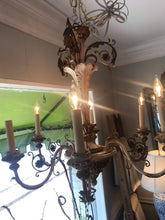 6 arm antique Italian chandelier