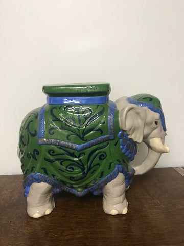 Vintage Chinoiserie garden elephant table/stool