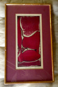 Mid Century Abstract Red and Pink Art - The Sweetwood Collection