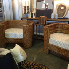 Pair of Rattan barrel chairs - The Sweetwood Collection