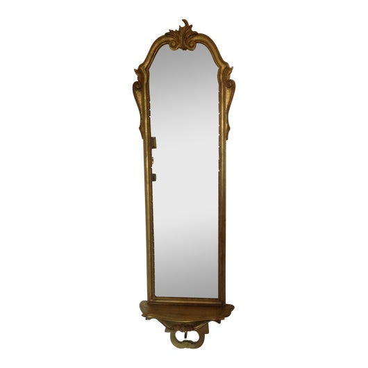 Rococo Italian tall mirror with shelf