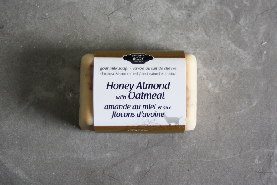 Honey Almond with Oatmeal Goat Milk Soap