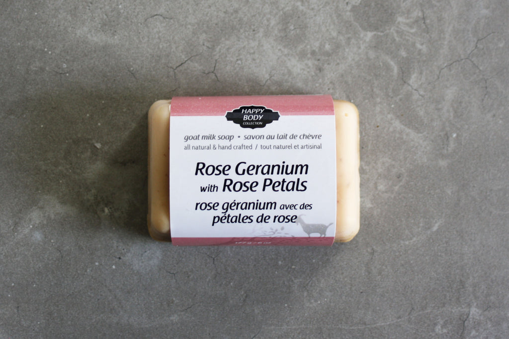 Rose Geranium with Rose Petals Goat Milk Soap