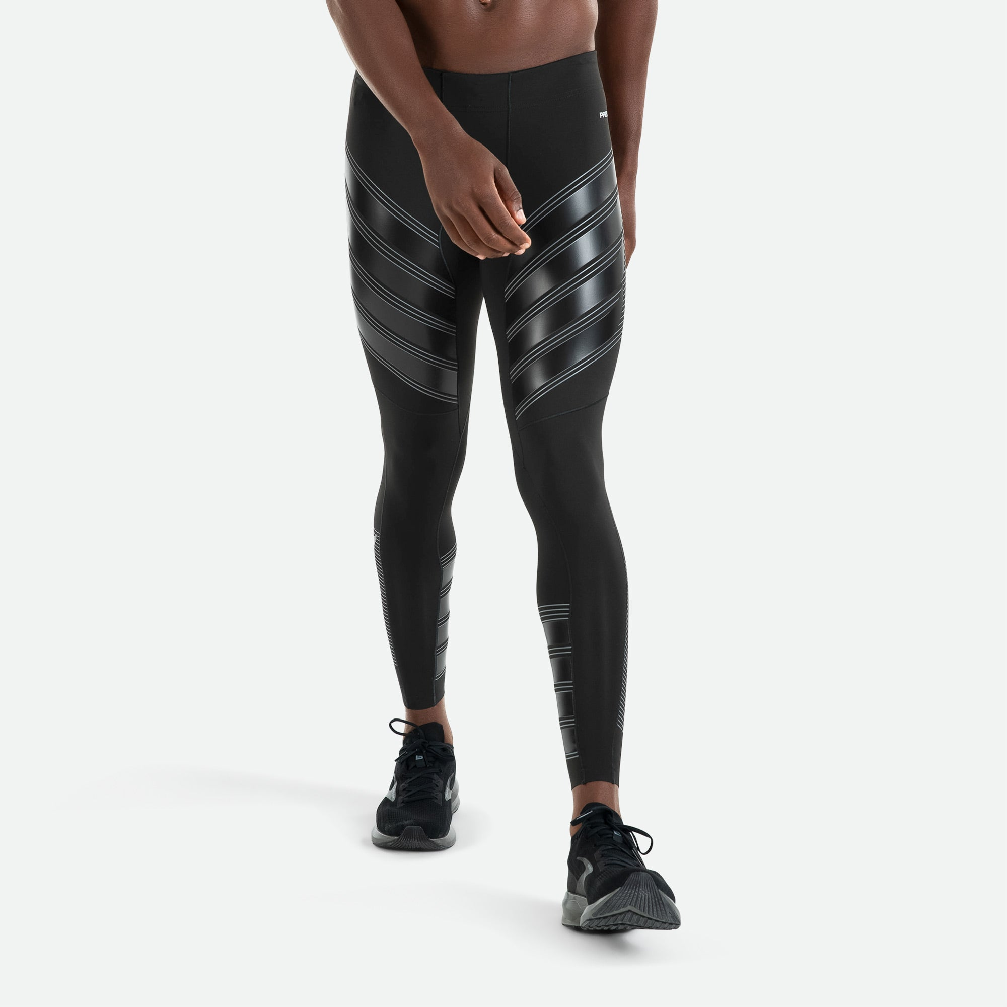 ECO Dye fabric offers greater consistency of power with Pressio men's power compression tight.