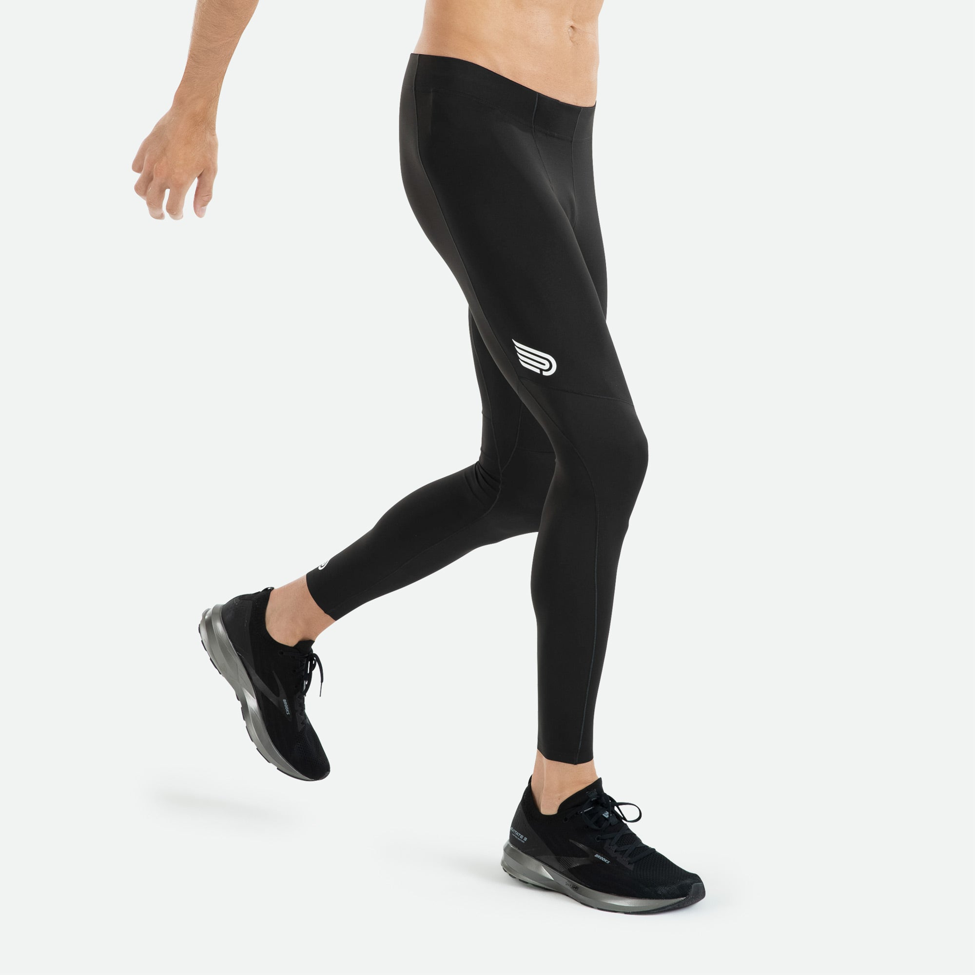 Men's Pressio compression tight offers a drawstring waistband for an adjustable, secure fit.
