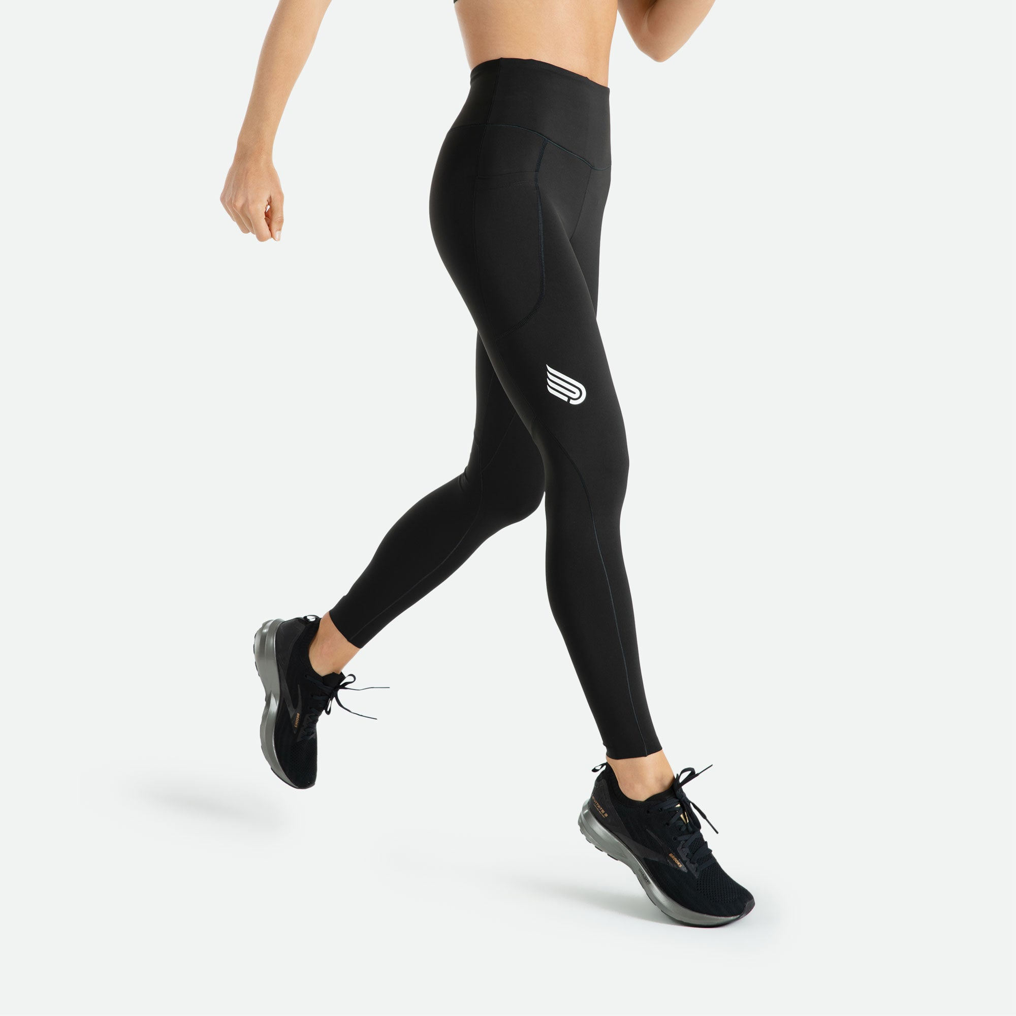Women's Pressio compression high rise tight provides figure-flattering design so you can wear it all day knowing your legs are supported and recuperating for the next day's workout.