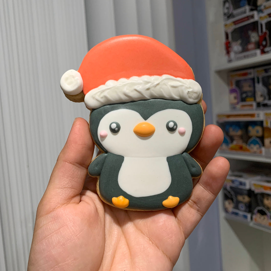 Penguin/Snowman with Santa hat Cutter