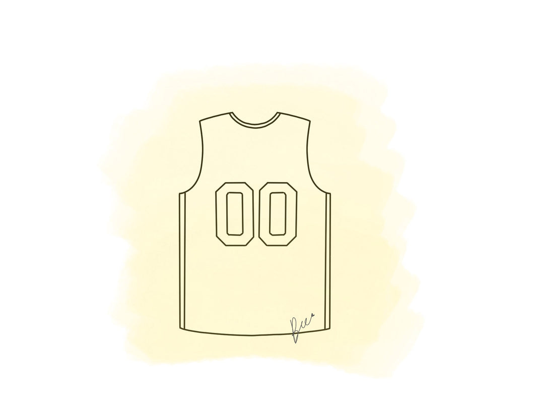 Basketball Shirt/ Sleeveless Shirt Cookie Cutter
