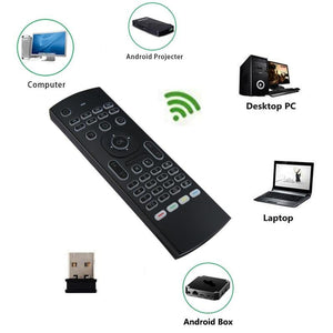 Wireless Backlit Air Mouse/Keyboard with Smart Voice Remote Control