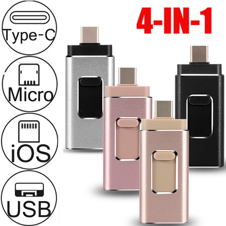 All-in-one Type C, Micro USB, iOS, USB Flash Drive