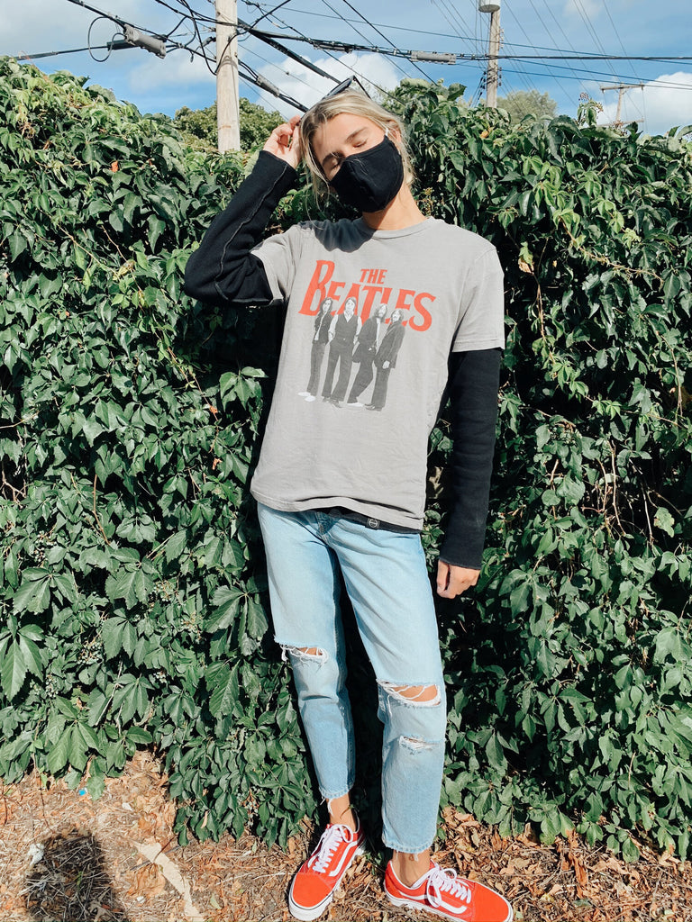 Layered look with Beatles T-Shirt over INFKNIT Reversible Long Sleeve Black Side