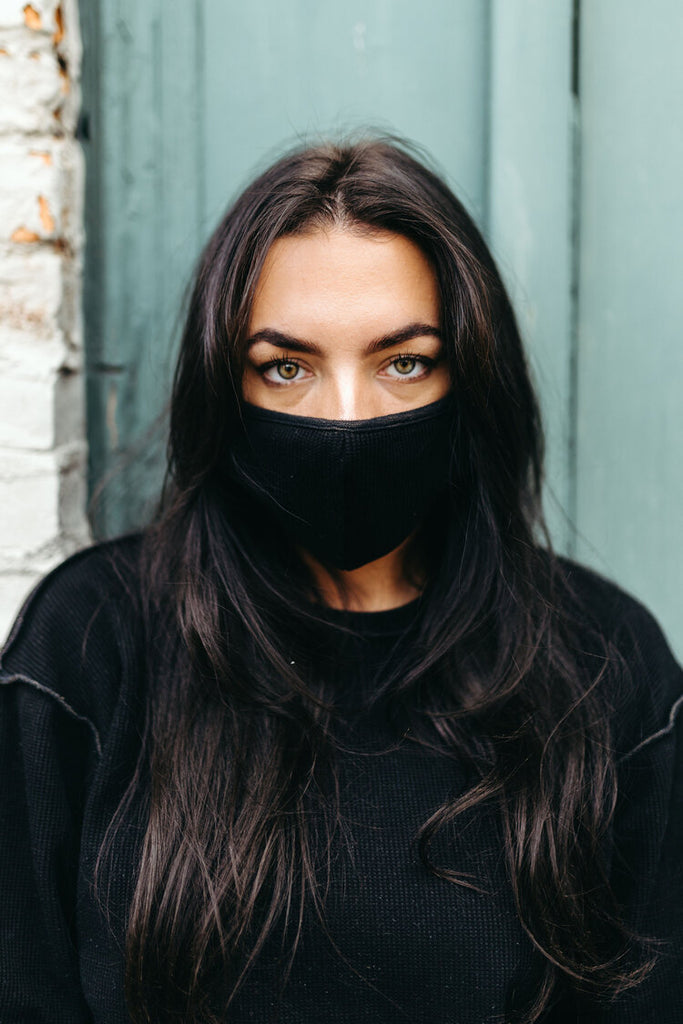 INFKNIT Black Mask and Reversible Long Sleeve