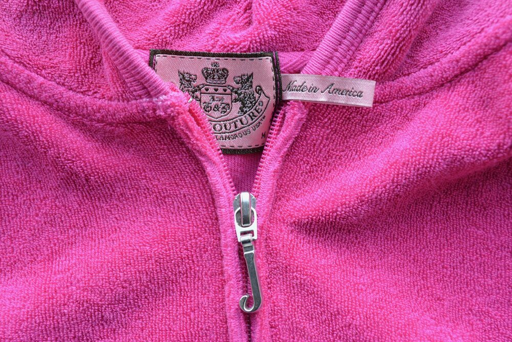 Pink Juicy Couture Zip Up Hoodie from INFKNIT Reworked Collection