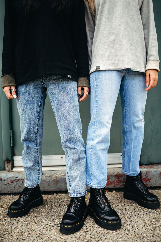 Blue Jeans, hunter boots and INFKNIT Reversible Long Sleeve