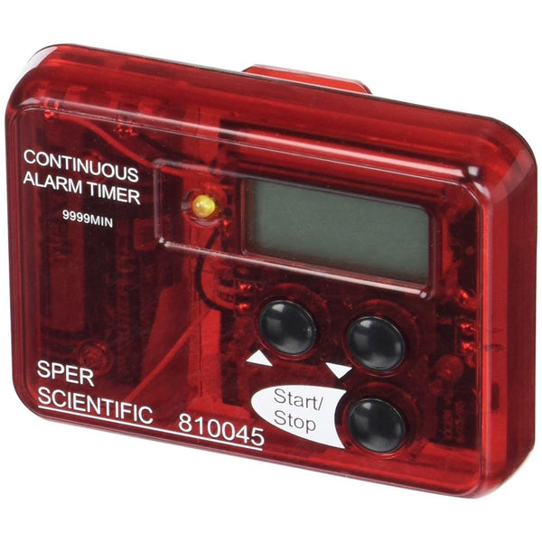 Visual and Audible Continuous Alarm Timer - Sper Scientific Direct