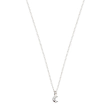 Load image into Gallery viewer, Tiny Moon Necklace Sterling Silver