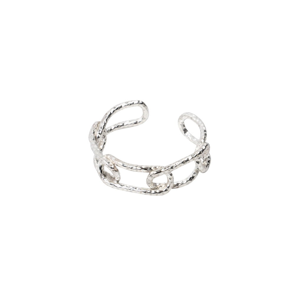 Linked Chain Ring Sterling Silver