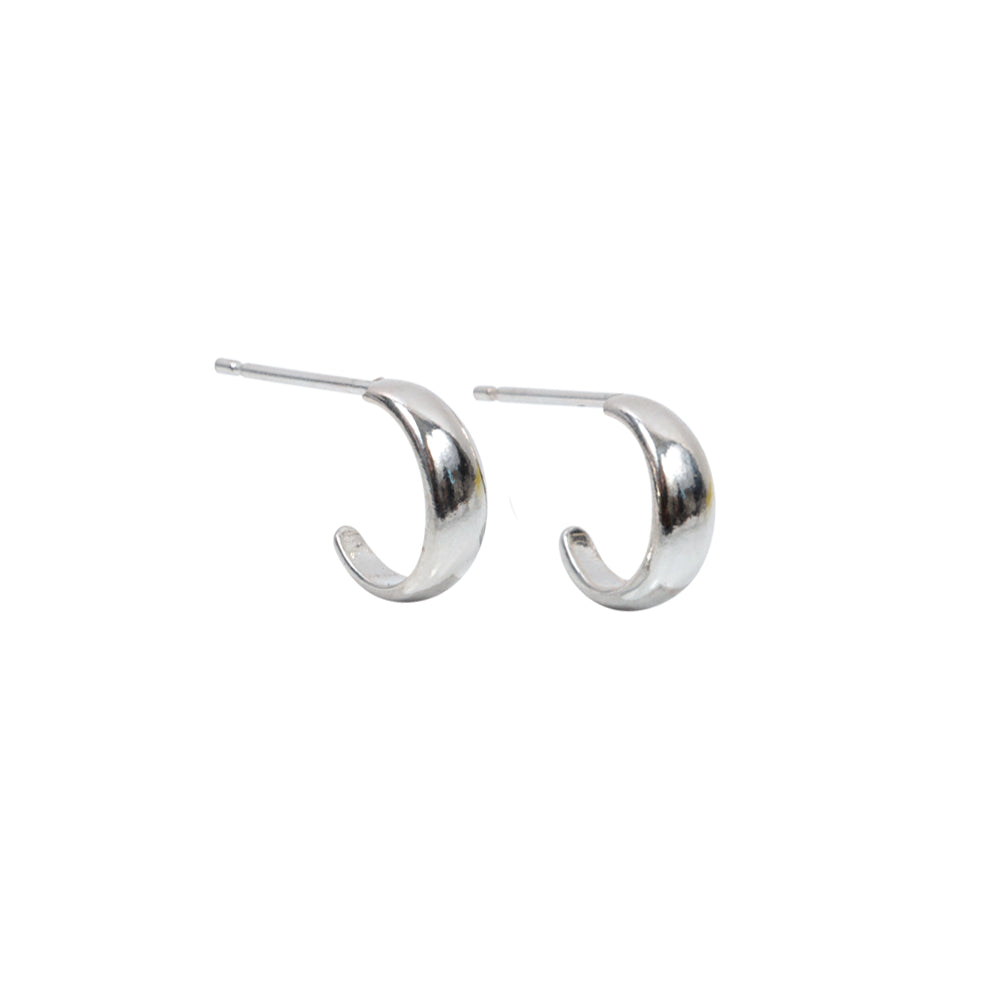 Essential Hoop Earrings Sterling Silver