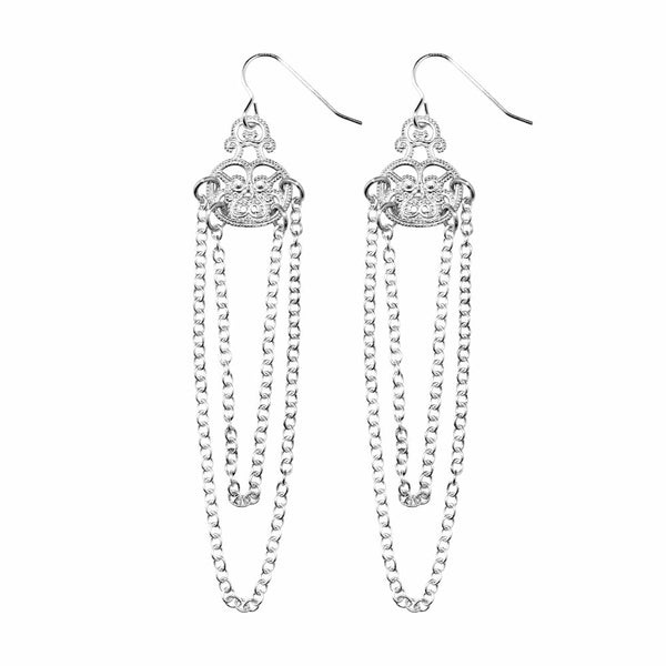 Filigree Chain Earrings