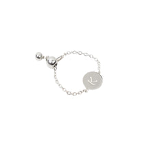 Load image into Gallery viewer, Personalised Initial Chain Ring Sterling Silver