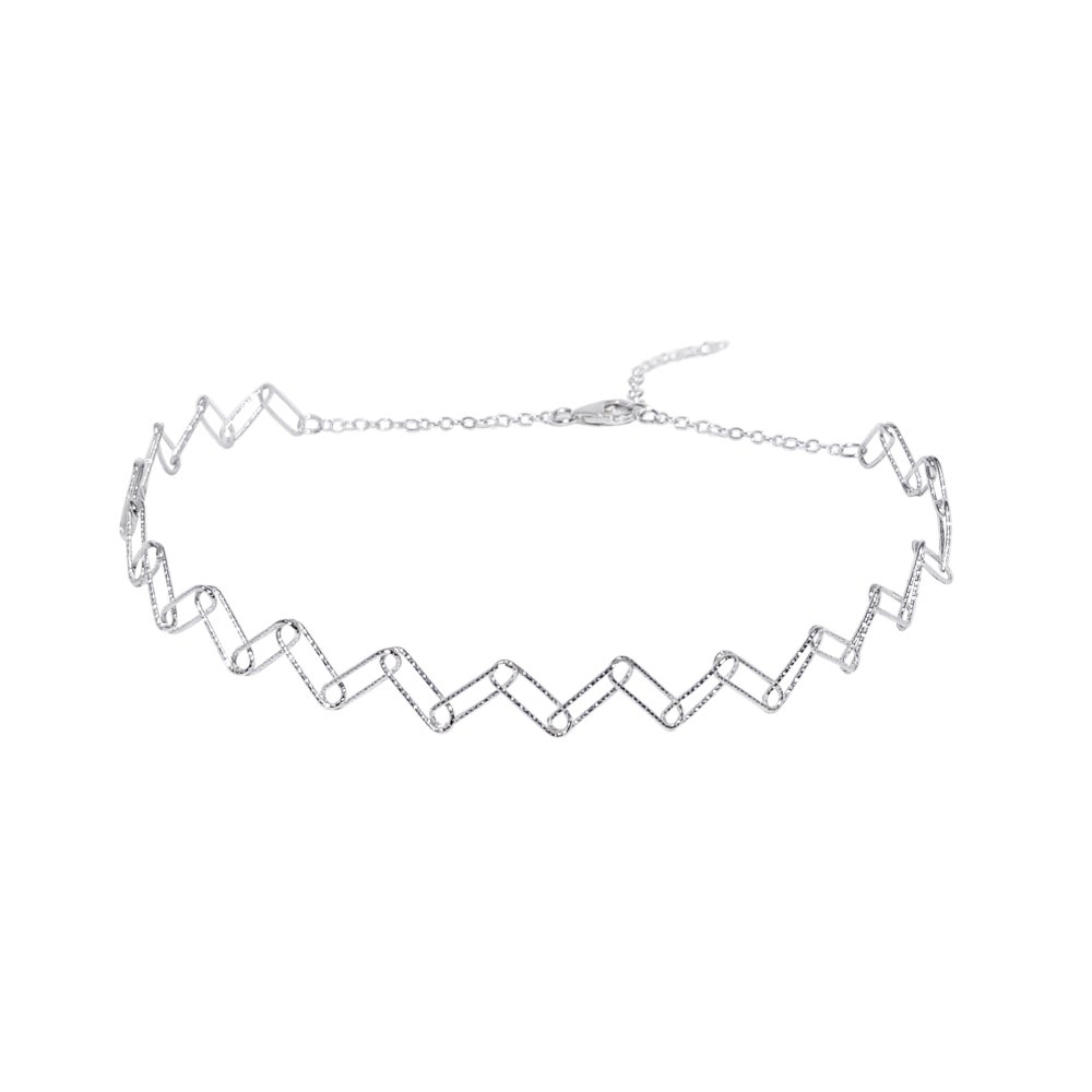 Wire Tattoo Choker Sterling Silver