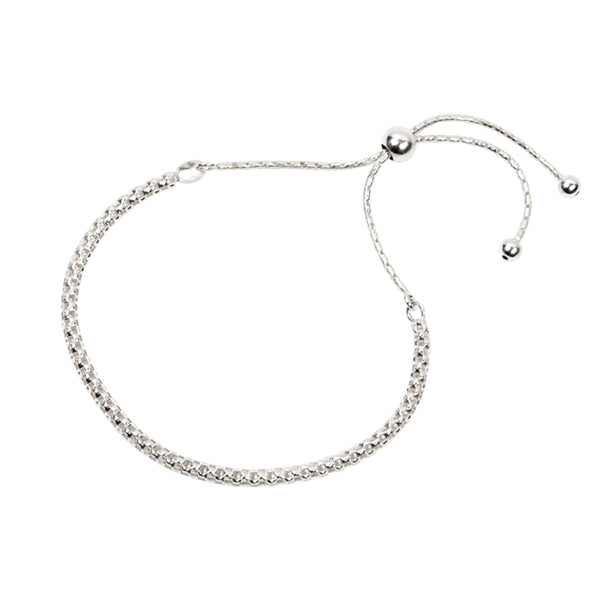 Braided Rope Bracelet Sterling Silver