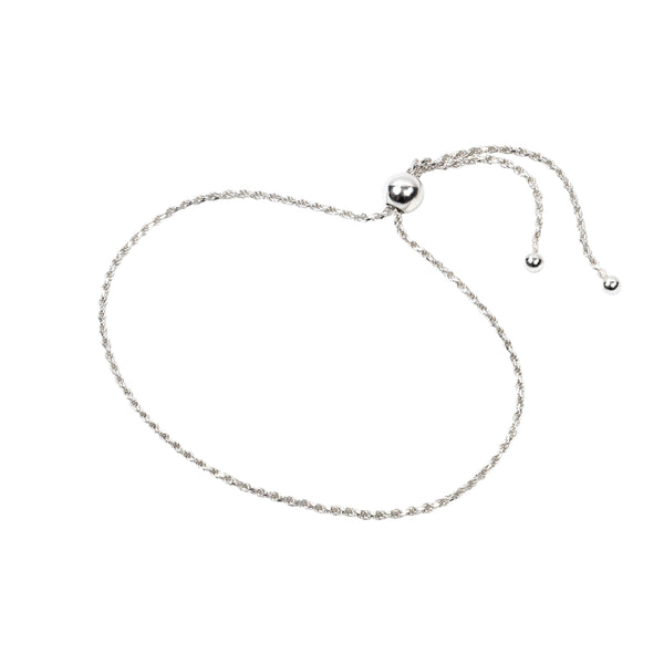 Rope Chain Bracelet Sterling Silver