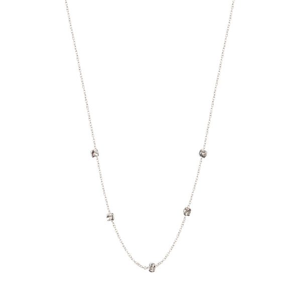 Satelite Chain Necklace Sterling Silver