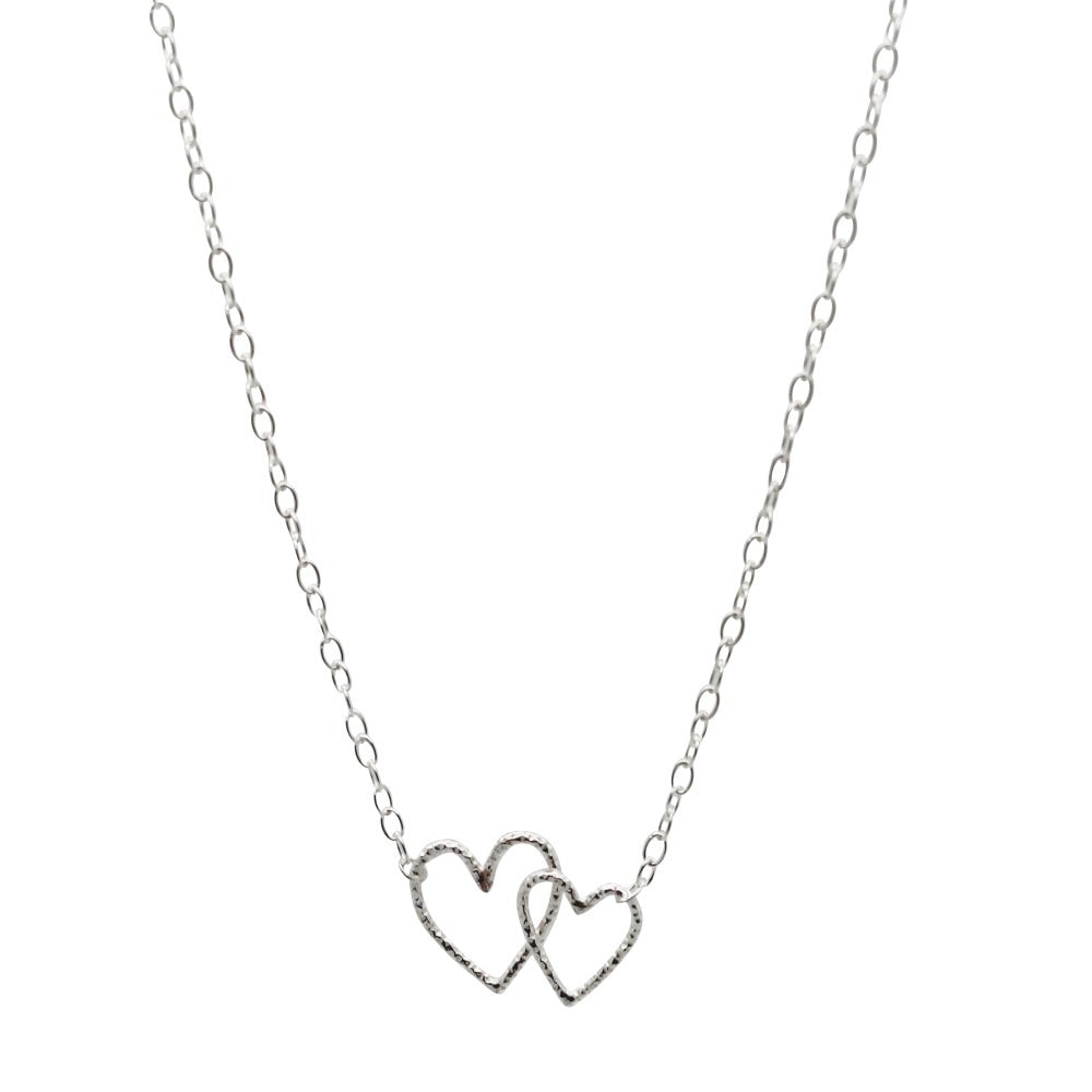 Entwined Hearts Necklace Sterling Silver