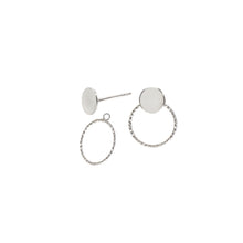 Load image into Gallery viewer, Disc and Circle Stud Earrings and Ear Jackets Sterling Silver