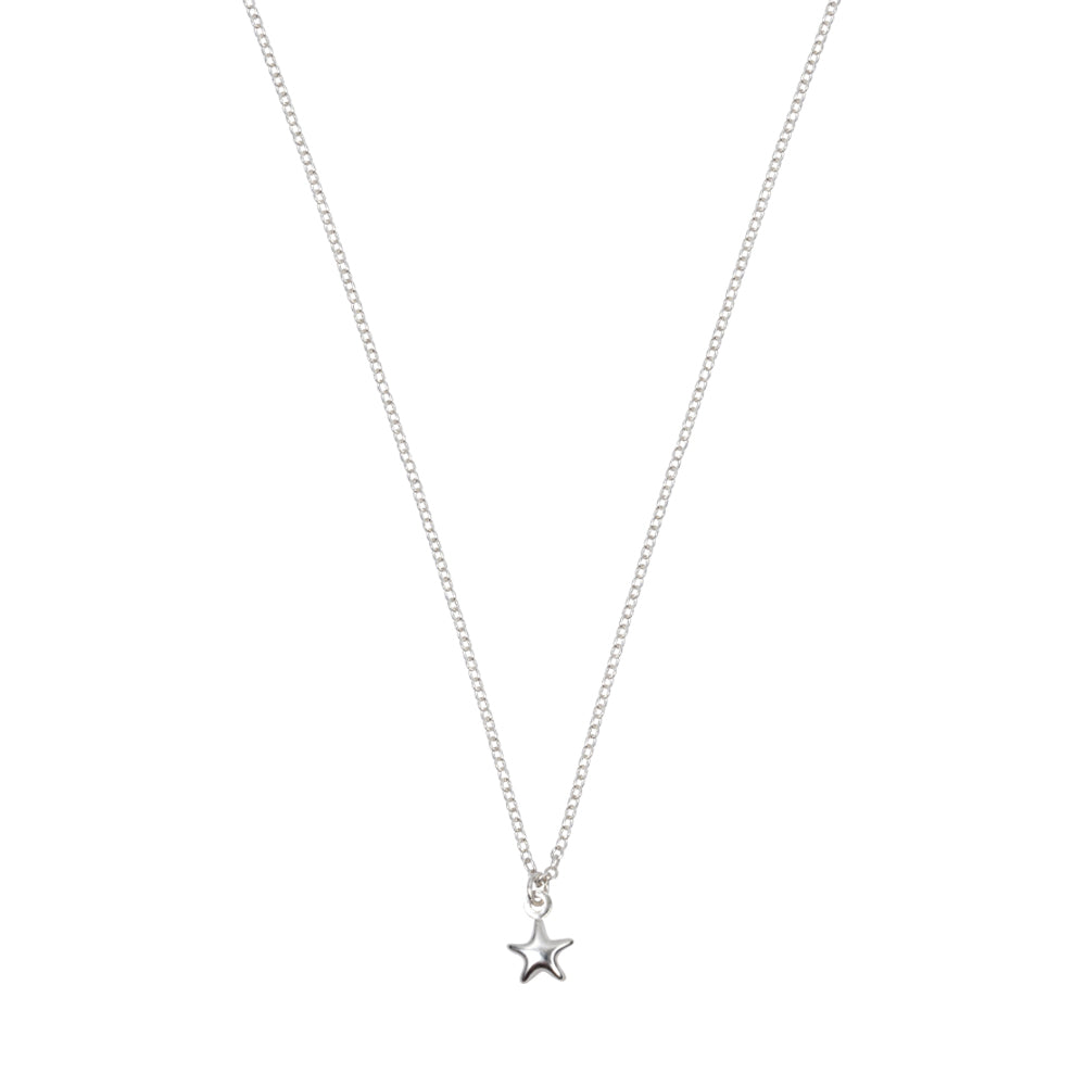 Tiny Star Necklace Sterling Silver
