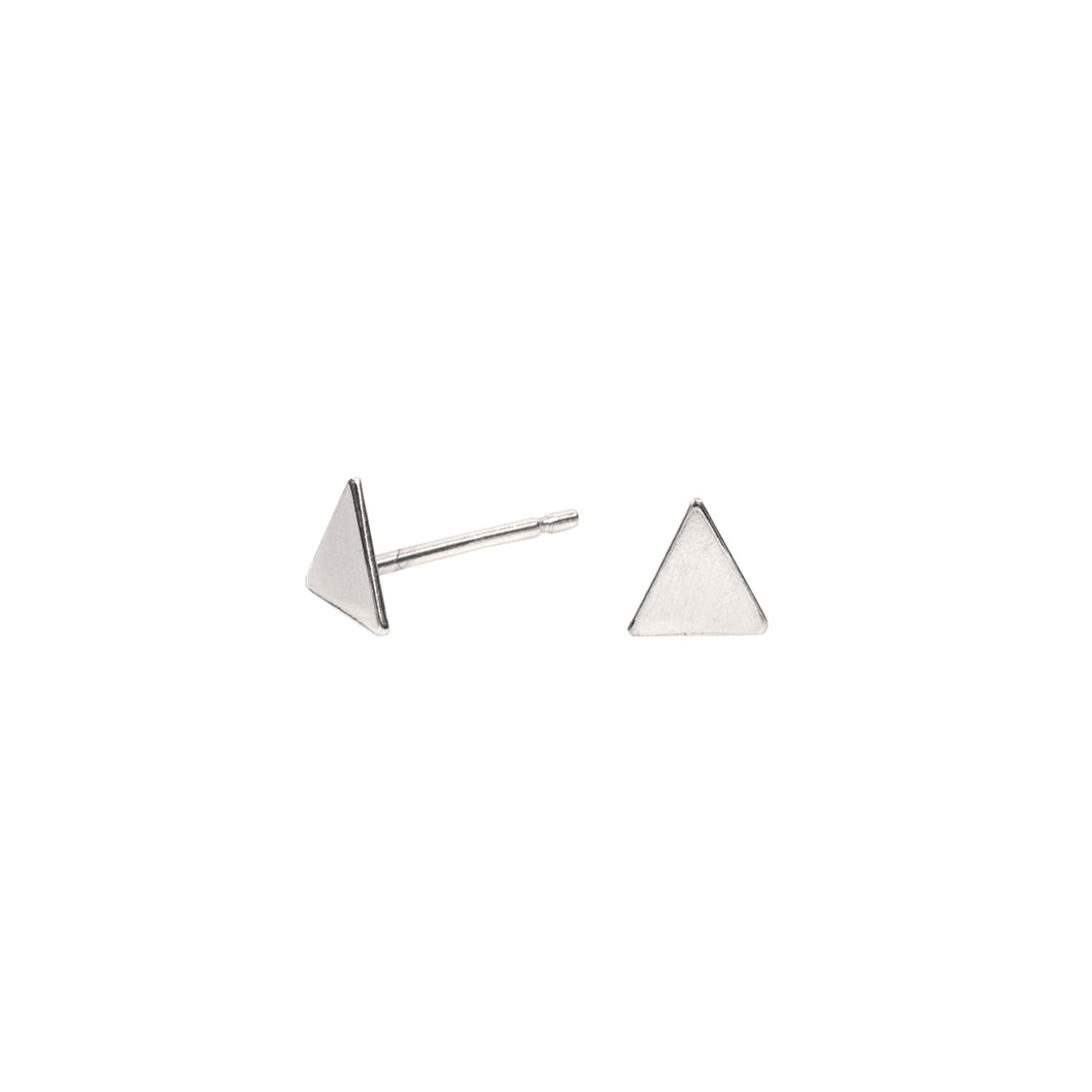 Tiny Triangle Earrings Sterling Silver