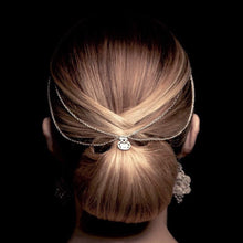 Load image into Gallery viewer, Filigree Chain Hair Crown