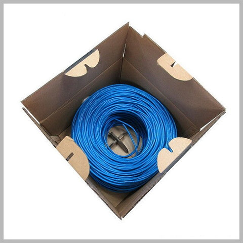 1000ft 305m Blue UTP CAT6 Network Cable RJ45 Box Line Copper Wire OFC Twisted Pair Computer Lan For Engineering Gigabit Ethernet