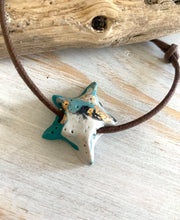 Load image into Gallery viewer, Starfish polymer clay cord bracelet