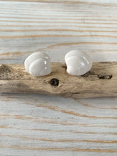 Load image into Gallery viewer, Porcelain clam shell earring studs