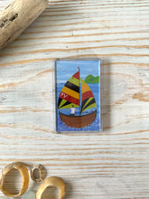 Load image into Gallery viewer, Fridge magnet depicting Fowey River sailing boat