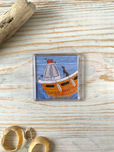 Load image into Gallery viewer, Fridge magnet depicting Fowey's water taxi