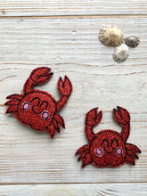 Load image into Gallery viewer, sparkly cornish crab badge or magnet