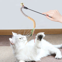 Cat Teasing Stick Pompom