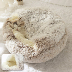 Hot Plush Round Cat Bed
