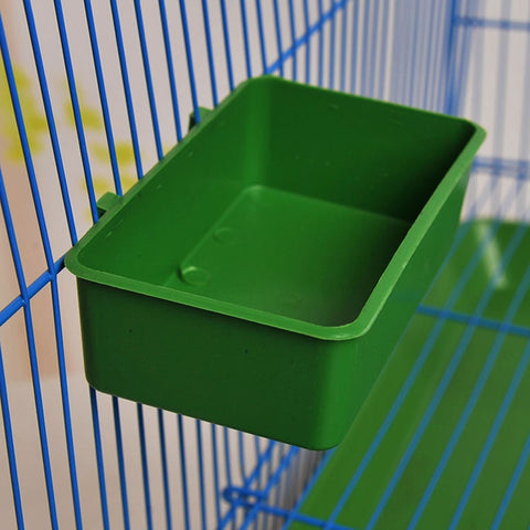 Green Parrot Food Tray