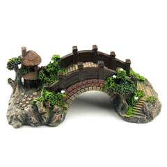 Aquarium Tank Vintage Decorative Bridge
