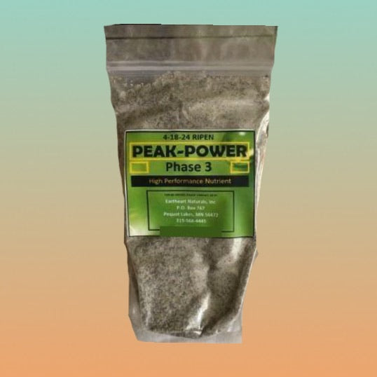 4-18-24 Phase 3 Ripen Peak Power Craft Nutrient for growing industrial hemp/medicinal indoor, outdoor, aero, hydro