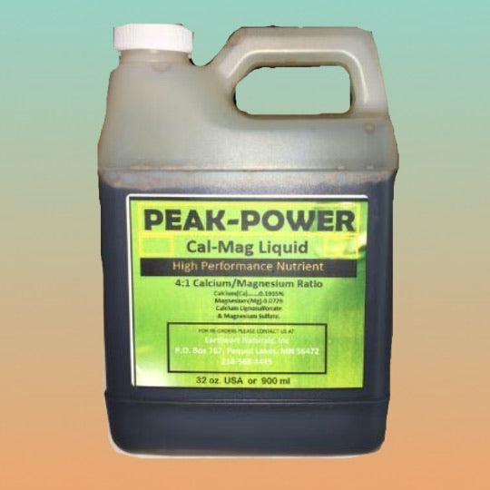 Peak Power Cal Mag Supplement Liquid for industrial hemp/medicinal indoor, outdoor, aero, hydro