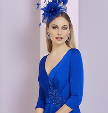 Load image into Gallery viewer, Invitations by Ronald Joyce Sapphire Blue Dress - style RJ29326