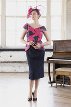 Load image into Gallery viewer, VO 6370 Fuchsia/Navy dress
