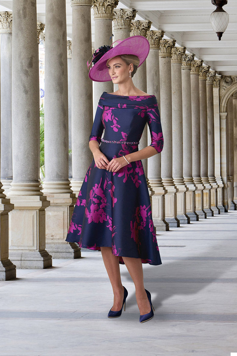IR 6193 Irresistible Navy/Fuchsia dress