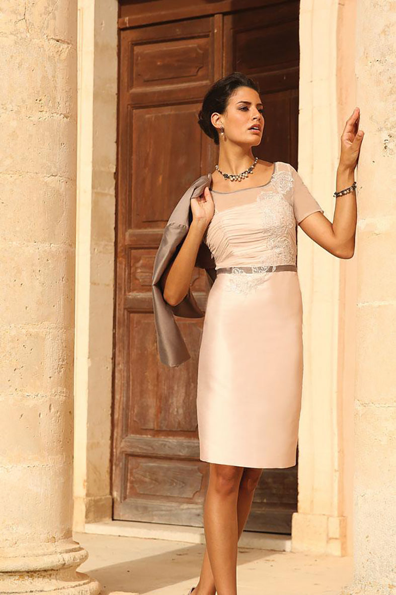 Linea Raffaelli Smoked Pearl Dress with stone Grey Jacket - Set 64 for the mother of the bride