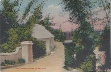 Load image into Gallery viewer, The Smallest House in Bermuda, Early Hand Colored Postcard, Unused